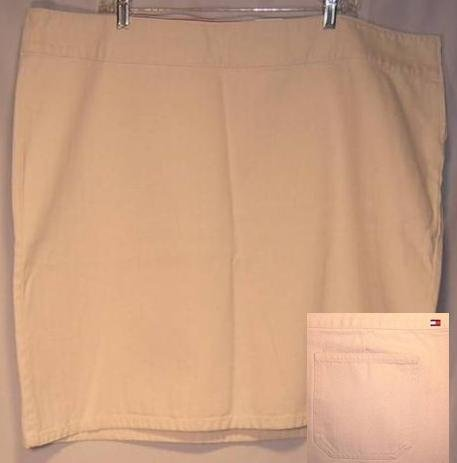 New Tommy Hilfiger Ivory Denim Skirt Size 22 Plus Size Women's Clothing 490131