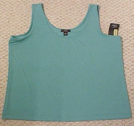 New Emme Lagoon Aquamari Tank Top Size 2 18 20 Plus Size Women's Clothing Free Shipping 490271