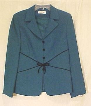 New $140 KASPER 2 pc Green Holiday Formal Suit Jacket Skirt Size 8  Fashions For Her 710891
