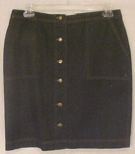 Ralph Lauren Black Denim Skirt Plus Size 14W 14 Plus Size Women Clothing 400091