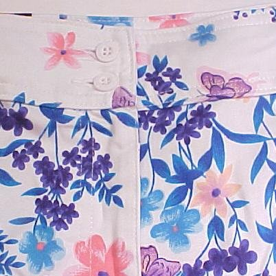New Bill Blass Stretch Butterflies Capri Pants 20W 20 Plus Size Women Clothing 400231