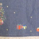 New Denim Winter Christmas Tree Long Skirt Size 16 Misses Clothing 400561