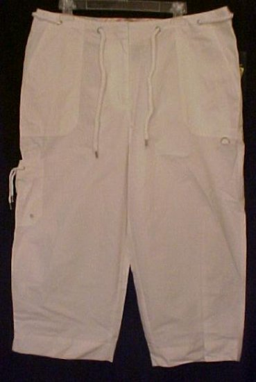 New Ralph Lauren White Capri Pants 14W Plus Size Women Clothing 400761