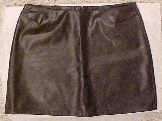 New Brown Leather Look Mini Skirt Size 9 10 Junior Size Clothing 811161