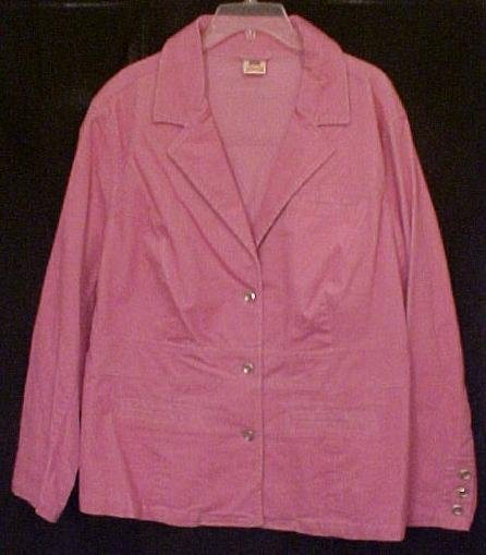 New Stretch Corduroy Blazer Jacket Size 22W 24W Plus Size Womens Clothing 811351-7