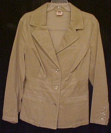 New Stretch Corduroy Blazer Jacket Size 22W 24W Tan Plus Size Clothing 811381