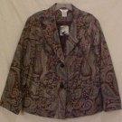 New Paisley Print Blazer Suit Jacket Size 22W 24W Plus Size Womens Clothing 811411