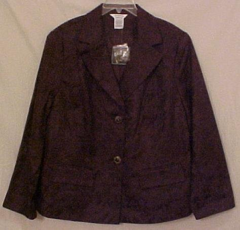 New Chocolate Brown Blazer Suit Jacket Size 22W 24W Plus Size Women Clothing 811431