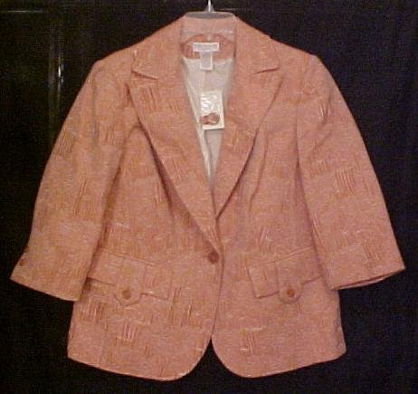 New Blazer Suit Jacket 14 W 14W Plus Size Women Clothing 811451-2