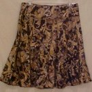 Paisley Chocolate Brown Skirt 16 Misses Career Wear Clothing 811521