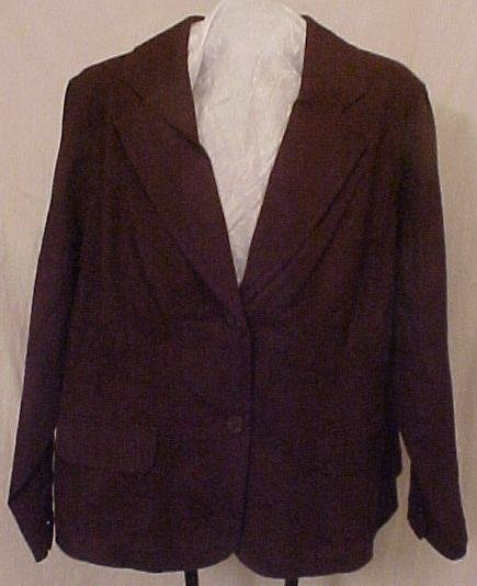 New Blazer Suit Jacket Stretch 22 24 Plus Size Clothing 811741-6