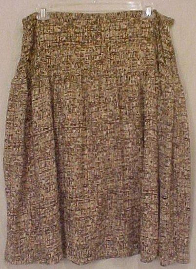 New Tan Brown Skirt 22W 22 Plus Size Women Clothing 811681-2