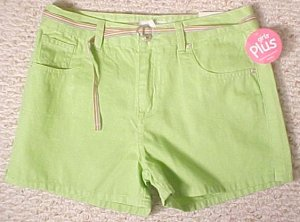 New Arizona Green Shorts Size 12.5 12+ Plus Size Girls Fashions 200411-2