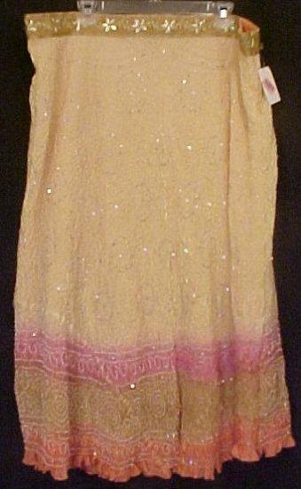 New Silk Skirt KAS Designs $118 Plus Size 3X Plus Size Women Clothing 200781