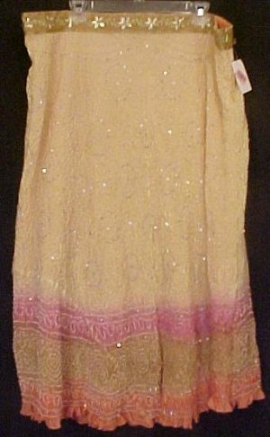 New Silk Skirt KAS Designs $118 Plus Size 2X Plus Size Women Clothing 200771