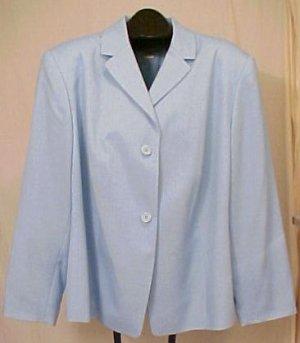 NEW Judith Hart Blue Long Sleeve Blazer 24W Plus Size Women Clothing 402781