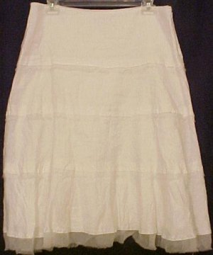 NEW Gianni Bini White Linen Skirt Size 6 Retail $138 Fashions For Her 201441