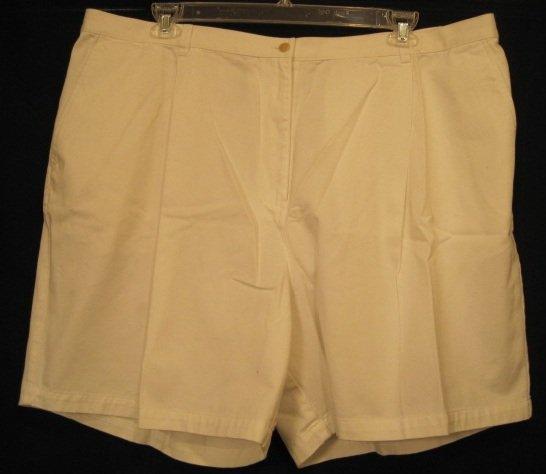 New Ralph Lauren WHITE SHORTS LOGO Plus Size 24W 24 Plus Size Clothing 201951