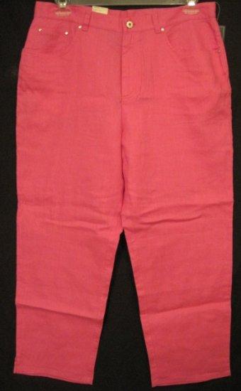 NEW Ralph Lauren Pink Pants Size 14W 14 Womens Plus Size Retail $69 2019111