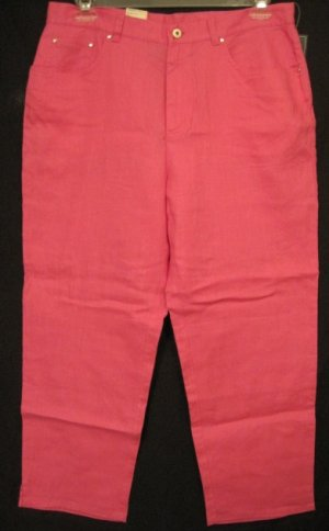 NEW Ralph Lauren Pink Pants Size 14W 14 Womens Plus Size Retail $69 2019111
