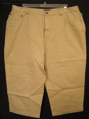 New Lauren Jeans Tan Capri Pants 22W Plus Size Women Clothing 201881