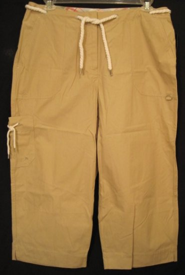 New Ralph Lauren Tan Capri Pants 18W Plus Size Women Clothing 202091