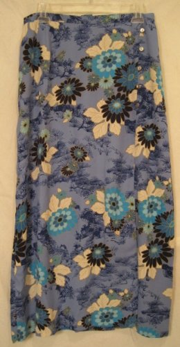 NEW JH Collectibles Blue Floral Skirt Retail $54 Size 18W Plus Size Women Clothing 202101