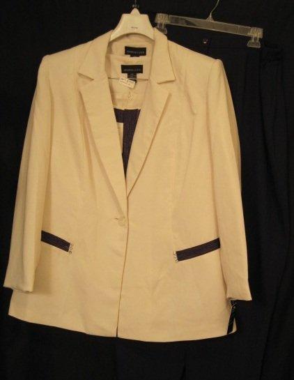 Suit Blazer Top Pants 3pc Plus Size Women 20 20W Plus Size Clothing 202071