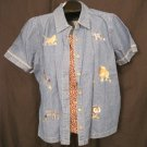 New Size 18W Button Front Jungle Shirt Plus Size Women&#39;s Clothing 202281