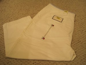 New Tommy Hilfiger White Cropped Pants Size 22 Plus Size Women's Clothing 202261