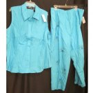 New Casual Pant Suit Size 24W Sag Habor Plus Size Women's Clothing 202151