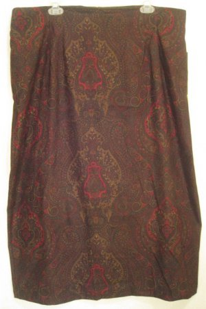 NEW Dark Paisley Skirt Size 22W Plus Size Women Clothing 203141 2
