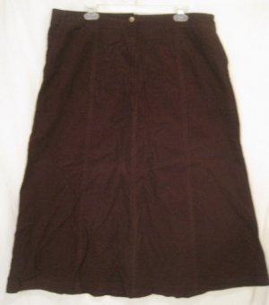New Ralph Lauren Brown Cordoroy Skirt Size 16W 16 Plus Size Women Clothing 203151