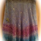 Kas Designs Silk Beaded Skirt Blue Grey Size 3x Plus Size Women Clothing 019