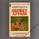 Secret Affair Lorraine Bargi A Softcover Library Original B982X First Edition 1966    s0889