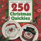 Leisure Arts' Best 250 Christmas Quickies Cross Stitch #2709 Leaflet 144 pages Ornaments Gifts Decor