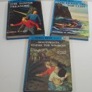 The Hardy Boys Lot of 3 Glossy Pictorial 1, 2 & 12 Hard Cover Flashlight edition Franklin W. Dixon