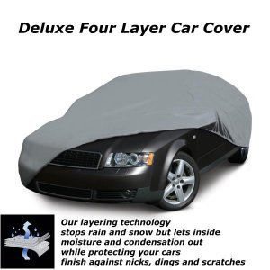 "Universal Deluxe 4 Layer Car Cover for Mid Size Cars up to 190"" L  - 71003-M"