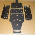 Polaris RZR570 RZR 570 High Density Polymer Center Skid Plate & Sliders Black