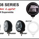 "6"" Black Round Slim 100W Super White Flood Light"
