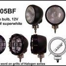 "4"" Black Round 100W Super White Flood Light"