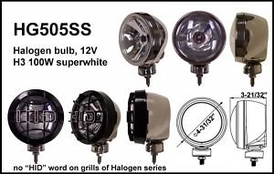 "4"" Stainless Round 100W Super White Spot Light"