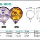 """3"""" Stainless Round 55W Clear Yellow Lights Set"""