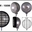 "7"" Chrome Round w/ Black Grille 100W Driving Light Set"