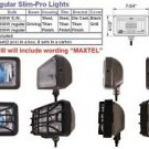 "8"" Rectangular Slim Titan 100W White Driving Light Set"