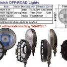 "7"" Slim Round Titan Finish 100W Driving Pro Lights Set"