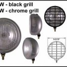 "6-5/16"" Chrome 100W Driving Light w/ Black Grille Set"