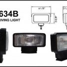 "6"" Black Rectangular Clear Slim 55W Driving Light Set"