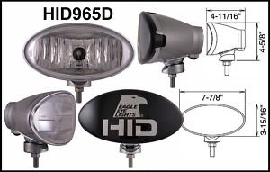 "Eagle Eye 8"" Silver Oval HID 35W Driving Light"