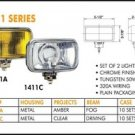 "5.5"" Rectangular Clear Fog Lights Set of 2"